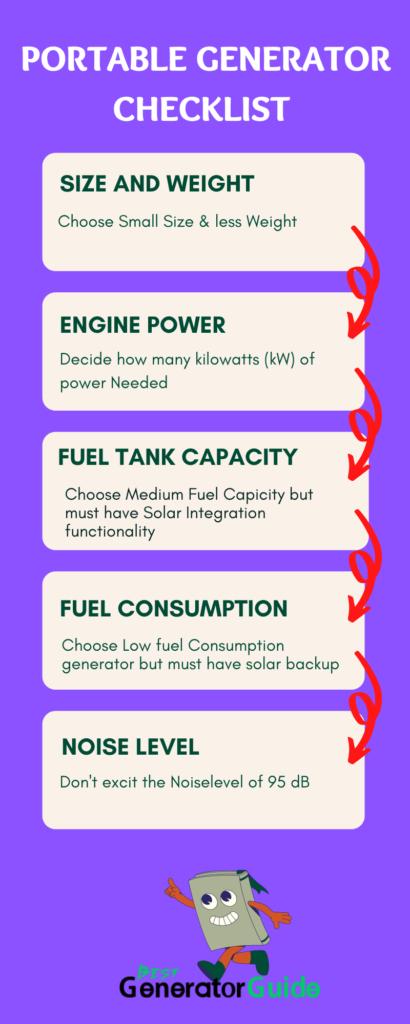 _portable generators checklist by bestgeneratorguide.com